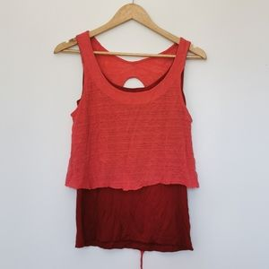 NWT Anthropologie Block colour keyhole back Tank